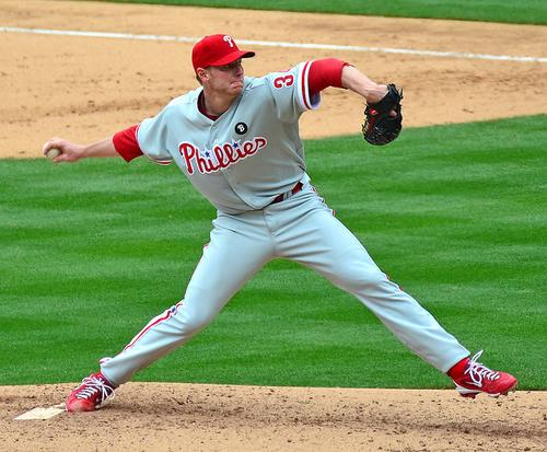 MLB Advanced Media helped Cisco pitch its vision of the 'Internet of Everything,' here conceptually illustrated by a photo of phormer Philadelphia Phillies pitcher Roy Halladay. 